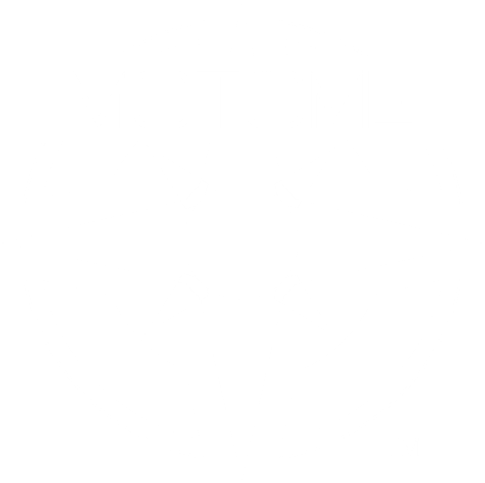 MotoMe White Vertical Logo Clear Background