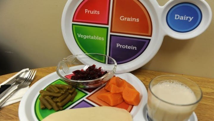 Macro and micro nutrients displayed on plate